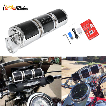 Bluetooth динамики для руля мотоцикла | Аксессуары для мотоциклов ATV Bluetooth стерео MP3 FM радио динамик руль с 8 Гб для Honda Yamaha Suzuki Kawasaki