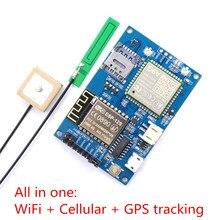 Elecrow ESP8266 ESP 12S A9G GSM GPRS + GPS IOT Nút V1.0 Mô Đun IOT Ban Phát Triển với Tất Cả trong một WiFi tế bào theo dõi GPS