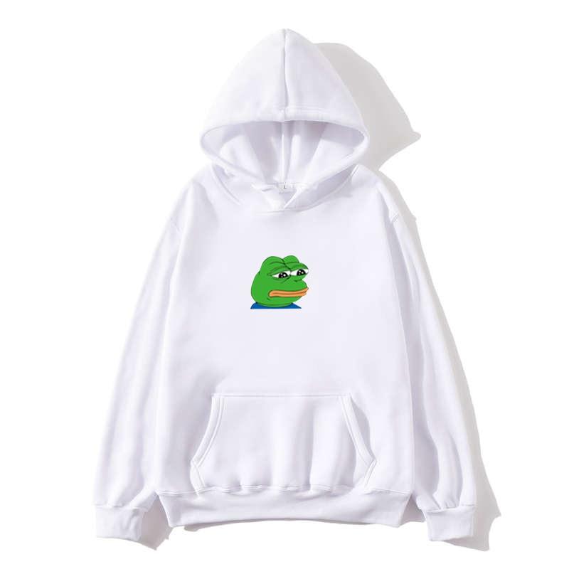 Sad Tearing Frog Print Hoodies Men/Women Hooded Sweatshirts Harajuku Hip Hop Hoodies Sweatshirt Male Japanese Streetwear Hoodie