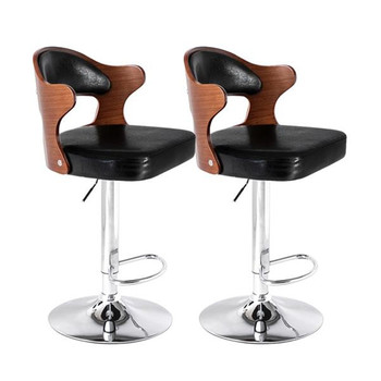 цена на 2pcs YH-331B Bar Stool Teak Color Bar Chair Leisure Swivel Bar Stools Chairs Height Adjustable Pneumatic Pub Chair