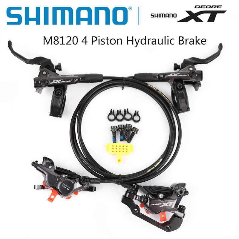 シマノ DEORE XT M8100 M8120 ブレーキ 4 ピストン MTB 油圧ディスクブレーキ ICE-TECH パッドフロントリア 800 ミリメートル/1600 ミリメートル