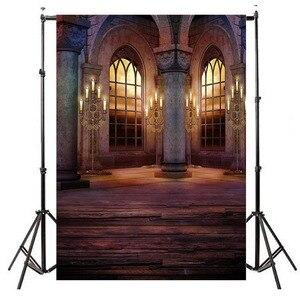 Image 2 - خلفية صور من الفينيل للقلعة والنوافذ ، خلفية صور ريترو ، قصر ، قصر ، زفاف ، عيد ميلاد ، فن ، استوديو صور ، صورة
