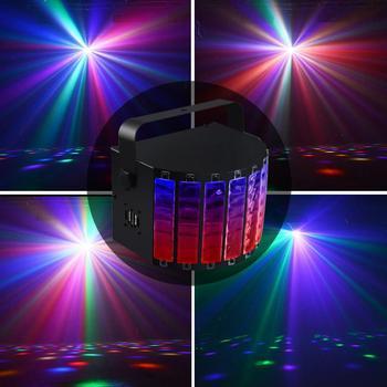 15W Black 9 Colors LED Flash Stage Light Crystal  Ball Voice / Remote / DMX512 Control for KTV / Disco / Bar / Concert