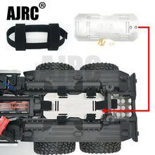 Paslanmaz çelik ikincil pil bölmesi TRAXXAS TRX6 G63 6X6 RC araba yükseltilmiş parçaları pil genişleme braketi