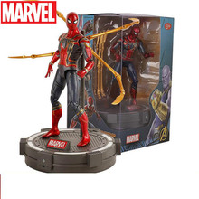 Disney 23cm Marvel Avengers Infinity War Iron Spider Toys Spiderman PVC Action Figure Collectible Model Superhero Toy Doll avengers infinity war statue superhero iron man bust tony half length photo or portrait resin action figure toy d260