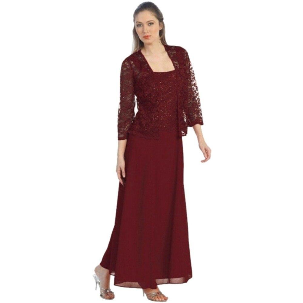 New Long  Sleeve Mother Of The Bride Dresses Long Evening Dress Brautmutterkleider Wedding Party Dresses