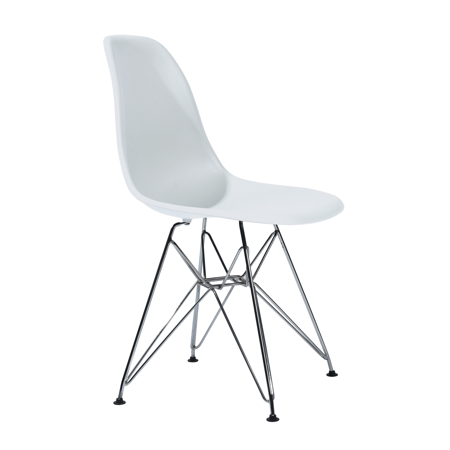 EGGREE Modern Rico Dining Chairs, Kitchen Chair With Metal Feet, Office Room Chair With Solid Frame- White