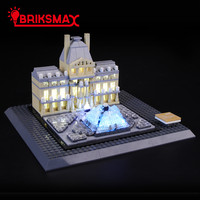 BriksMax Led Light Up Kit For Architecture Louvre Building Blocks Compatible With 21024 (NOT Include Model)