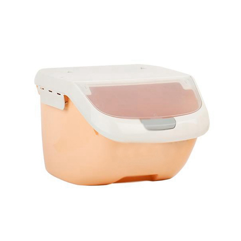 Rice Storage Box Sealed Moisture-Proof Large Capacity Grain Flour Container Kitchen Rice Storage Box Flip Cover
