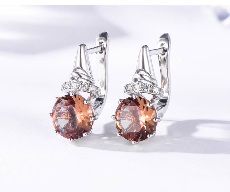 Kuololit Zultanite Gemstone Clip Earrings for Women Solid 925 Sterling Silver Color Change Diaspore Stone Earrings Fine Jewelry (5)