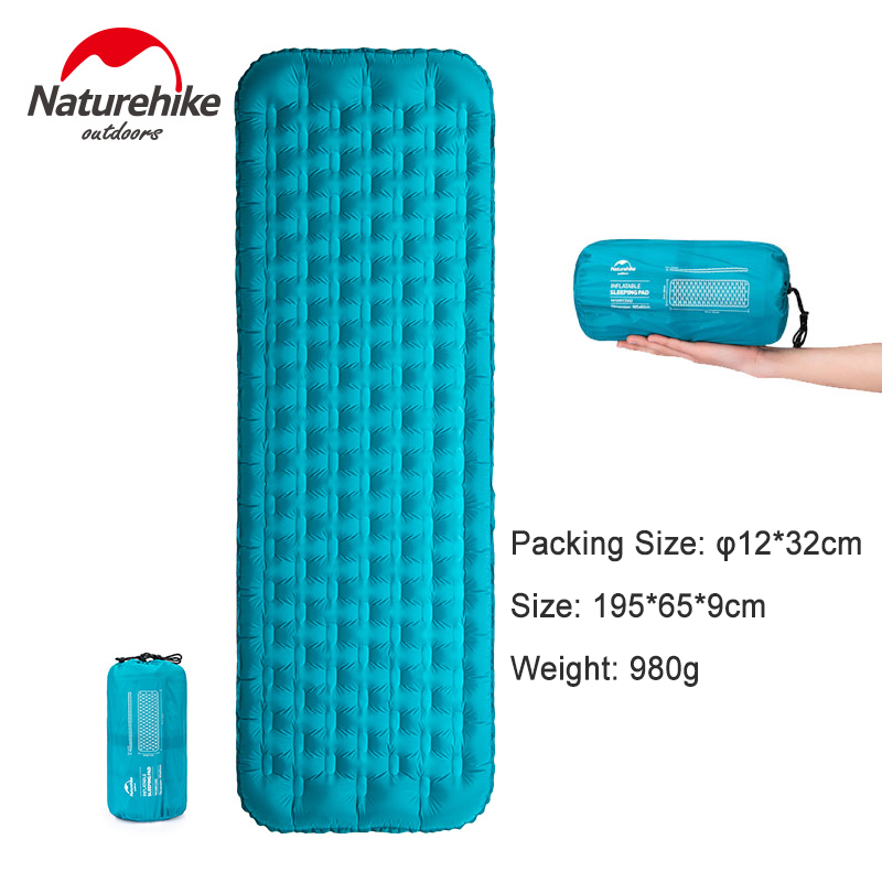 Naturehike 20D TPU Thicken Inflatable Mat Ultralight Waterproof 3D Side Wall Egg Trough Air Bed Portable Camping Sleeping Pad