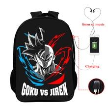Dragon Ball Z Goku Backpack Multifunction USB Charging Youth Laptop School 16 Inch  bookbag