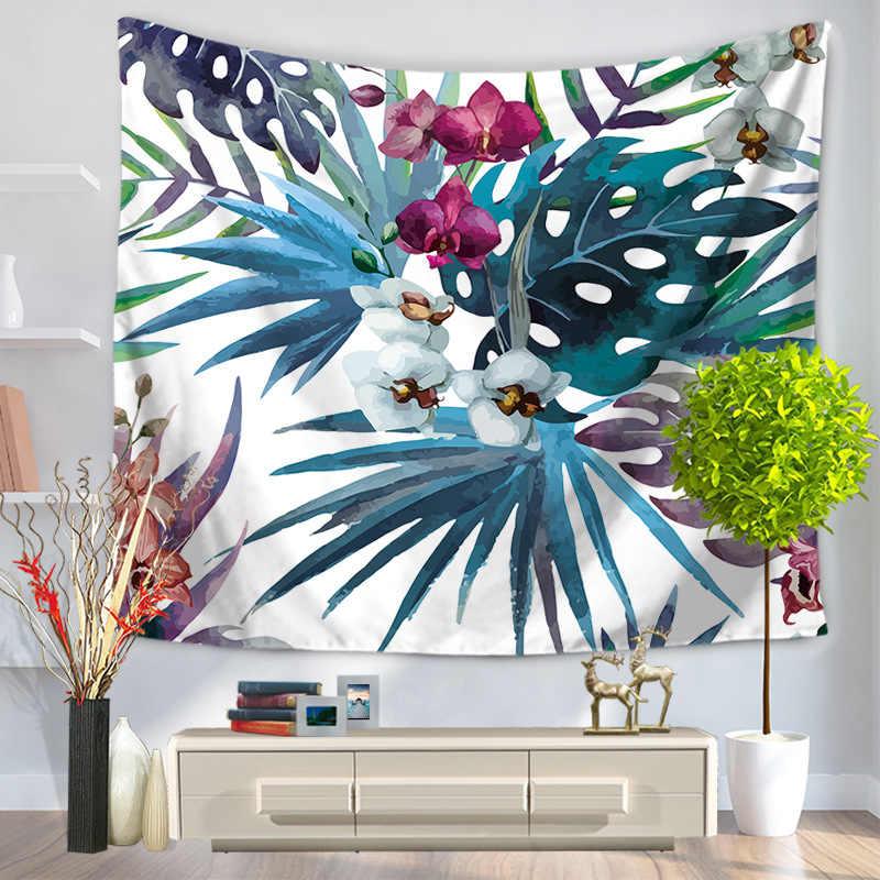 Настенный гобелен с принтом растений, тканевый Настенный Ковер, подвесной домашний декор, пляжный коврик, принадлежности для колдовства, 75*90 см, GT-0011