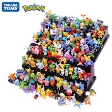 144 pçs estilos diferentes pokemon figuras brinquedos modelo coleção 2-3cm pokemon pikachu anime figura brinquedos bonecas presente de aniversário da criança
