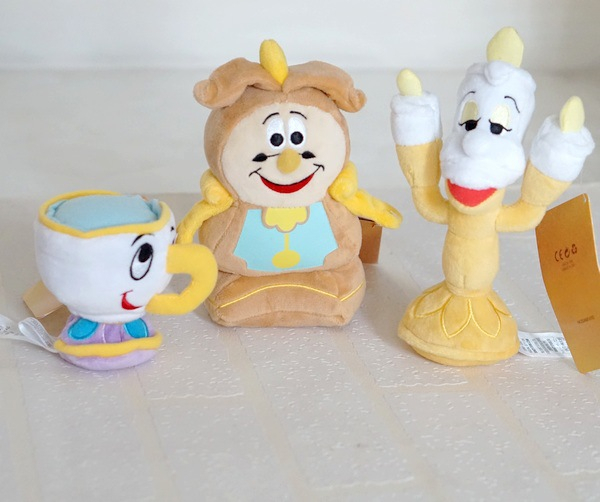 New Beauty And The Beast Plush Doll Toys 4 Styles Lumiere Chip Cogsworth The Clock House Soft Game Dolls 9-18 CM Christmas Gifts