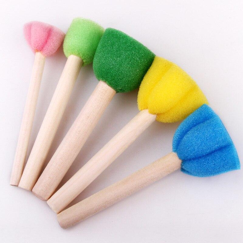 5pcs sponge brush children art diy painting tools baby drawing toys gift 0cn