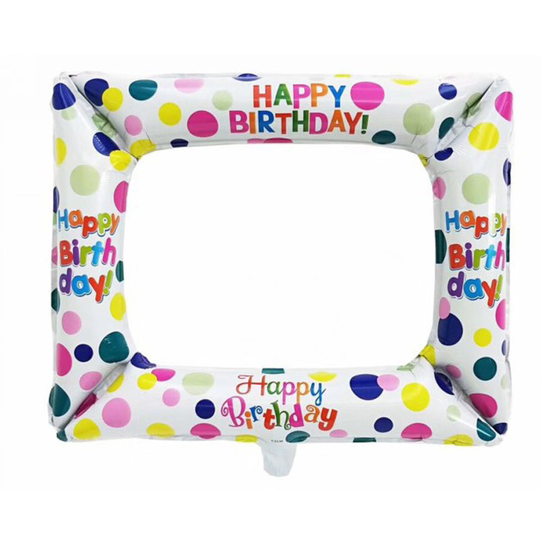 Twins Party 1st Birthday Photo Frame Balloons Photo Booth Foil Balloons Photo props Birthday Balloons Happy Birthday Photo Frame in Ballons Accessories from Home Garden