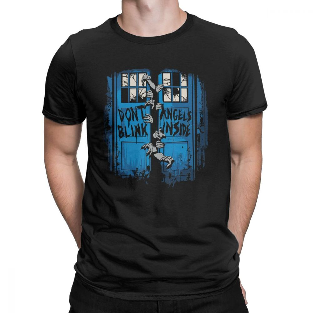 The Walking Angels Dead T Shirt Men Doctor Who Zombies Dont Blink Unique Tops Short Sleeve Vintage T Shirt Crew Neck Cotton Tees in T Shirts from Men 39 s Clothing