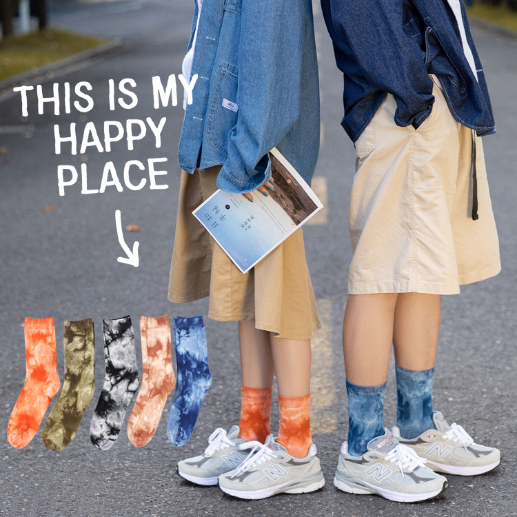 Unisex Socks 2019 Autumn New Personality Female Socks Novelty Printing Happy Breathable Motion Cotton Couple Socks Unisex