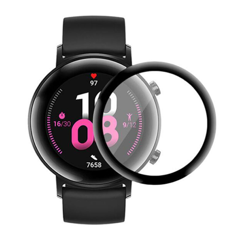 3D Curved Edge Soft Clear Protective Film Full Cover For Huawei Watch GT 2 GT2 / Honor Magic 2 42MM Smartwatch Screen Protector