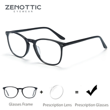 ZENOTTIC Glasses Men Optical Spectacles Eyeglasses Fashion D