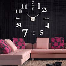 Zegar ścienny nowoczesny Design akrylowy nowoczesny zegar ścienny Diy 3d naklejane lustra na powierzchnie dekoracje do domowego biura wymienna kalkomania artystyczna naklejka tanie tanio CN (pochodzenie) Europa 1028 GEOMETRIC Pojedyncze twarzy QUARTZ Streszczenie Salon Oddziela Igła Living room decoration