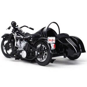 Image 3 - Maisto 1:18 1948 FL دراجة نارية sidecar دييكاست سبيكة نموذج دراجة نارية لعبة