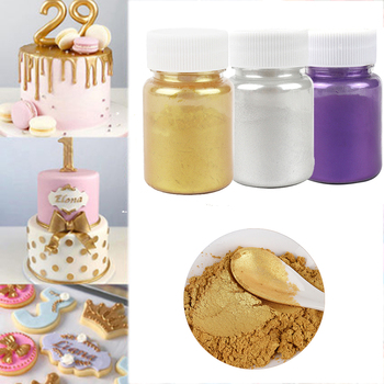 5/10/15g Edible Cake Gold Powder Mousse Fondant Macaron Chocolate Glitter Silver Baking Color Decorating Tool - discount item  31% OFF Kitchen,Dining & Bar