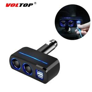 Image 3 - VOLTOP 1 Punto 2 Dual USB cargador de coche adornos de coche accesorios de carga de teléfono encendedor de cigarrillos