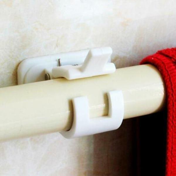 2 Pcs Magic Adjustable Curtains Organized Storage Rack Hook For Home Kitchen Bathroom DIN889