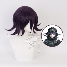 Danganronpa V3: Killing Harmony Ouma Kokichi Short Wig Cosplay Costume Dangan Ronpa Synthetic Hair Halloween Party Wigs