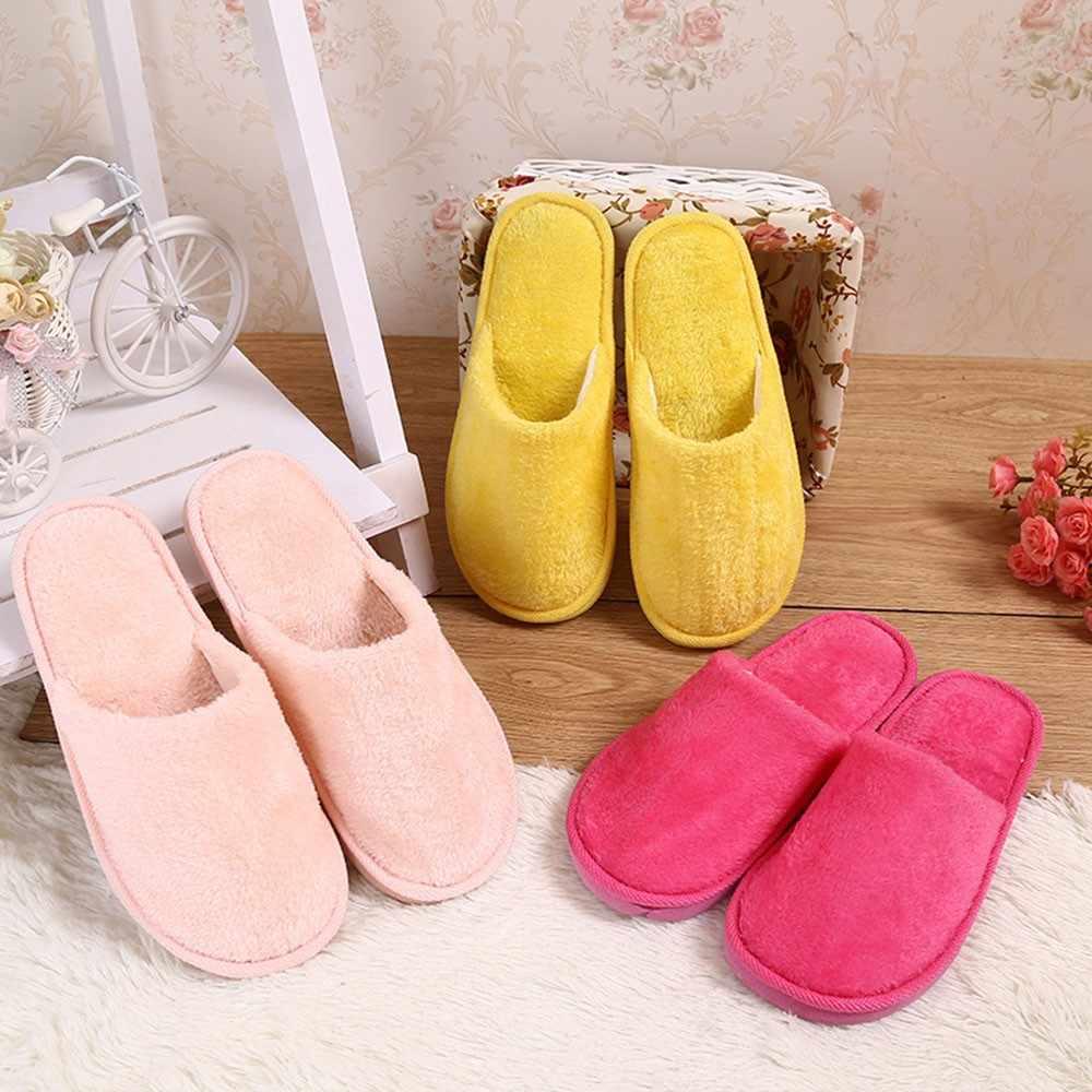 YOUYEDIAN Frauen Warme Hause Plüsch Weiche Hausschuhe Drinnen Anti-slip Winter Boden Schlafzimmer Schuhe Marke Luxus 2019 zapatos de mujer #9