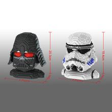 hot LegoINGlys Star Wars Darth Vader stormt picture Head rooper figures mini micro diamond building blocks model brick toys gift