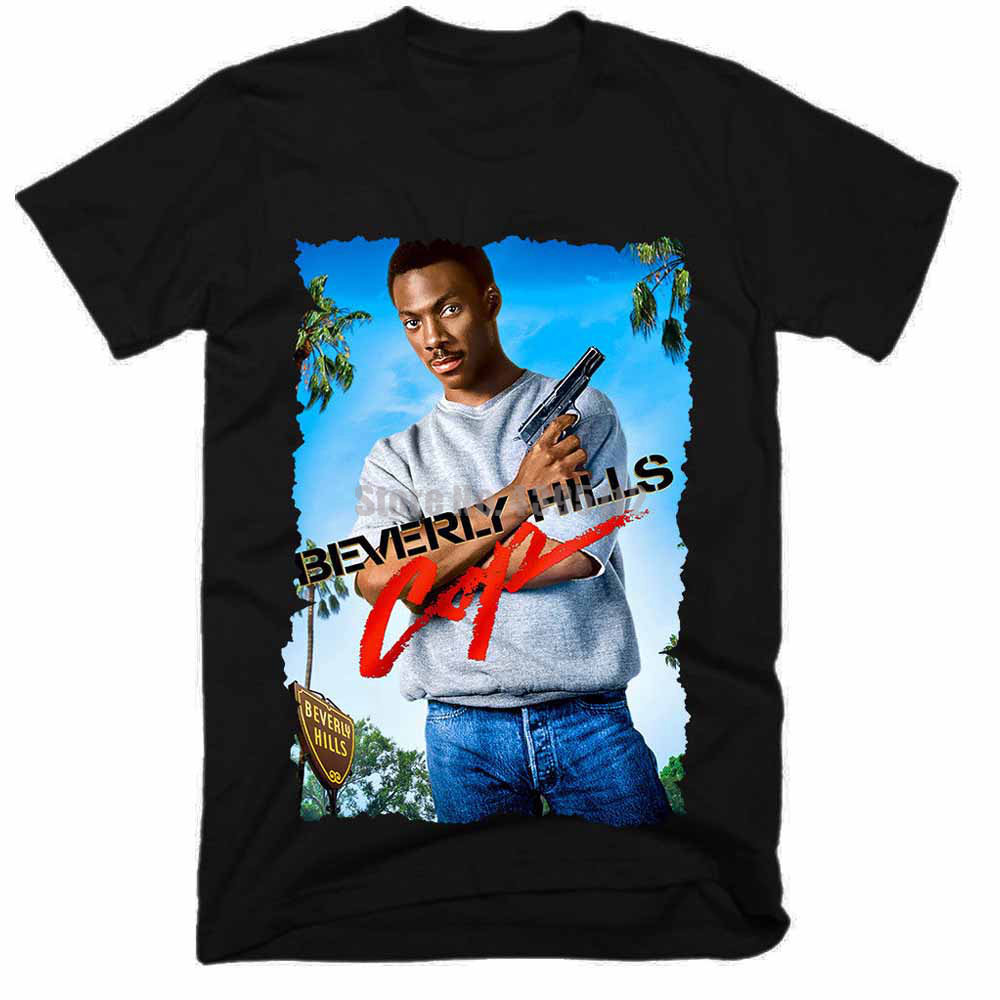 Beverly Hills Cop Movie Men Custom Shirts Gym T Shirts Horror Tshirt Motorcycle T-Shirt Cool Things Rjsgpw image