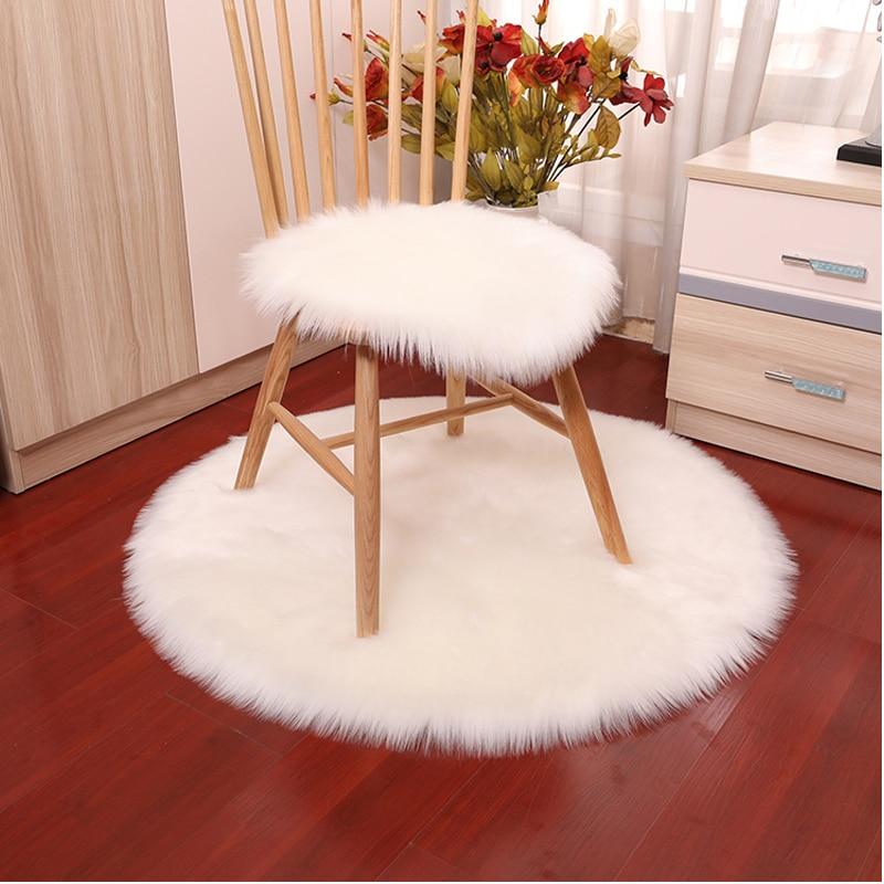 Горячая Распродажа, мягкий маленький ковер из искусственной овчины, покрытие для стула, коврик для спальни, искусственная шерсть, теплый, Пу...