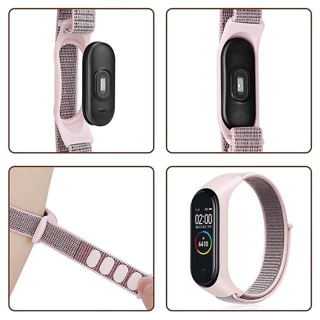 Correa de nailon para Xiaomi Mi band 3 y 5, repuesto de pulsera inteligente deportiva para Xiaomi Mi Band 3 y 4, pulsera de silicona 5