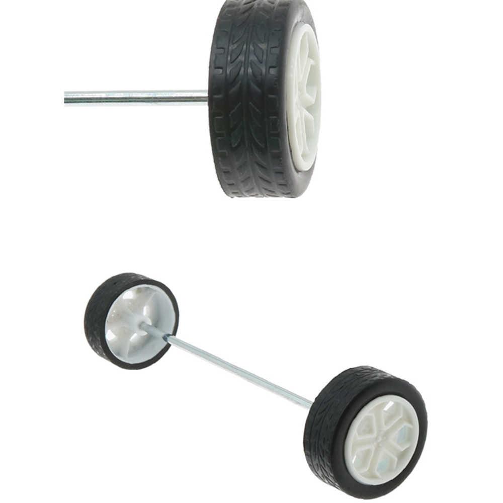 Roda de borracha redonda-furo adequado para pequenas peças de brinquedos do robô do carro do pneu do eixo redondo do motor diy