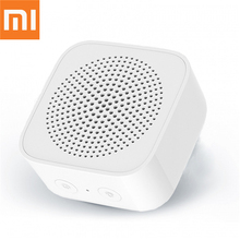 オリジナルxiaomi mijia bluetoothスピーカーai制御ワイヤレスポータブルミニbluetoothスピーカーステレオ低音micのhd品質のコール