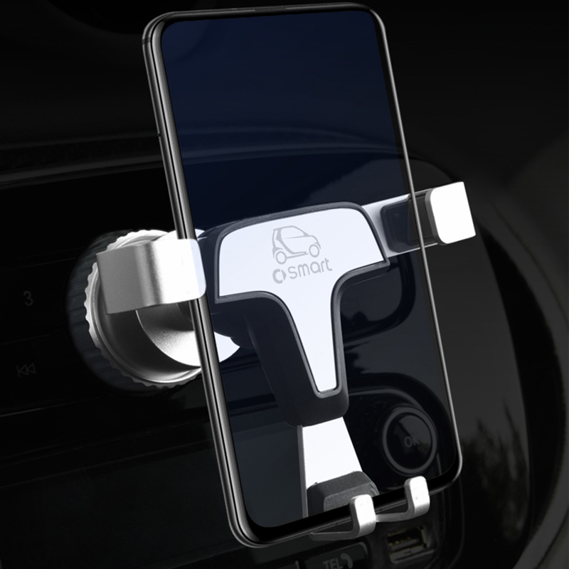 Car Phone Holder Navigation GPS Folding Bracket Interior Decoration For Smart fortwo forfour 451 453 Universal Accessories