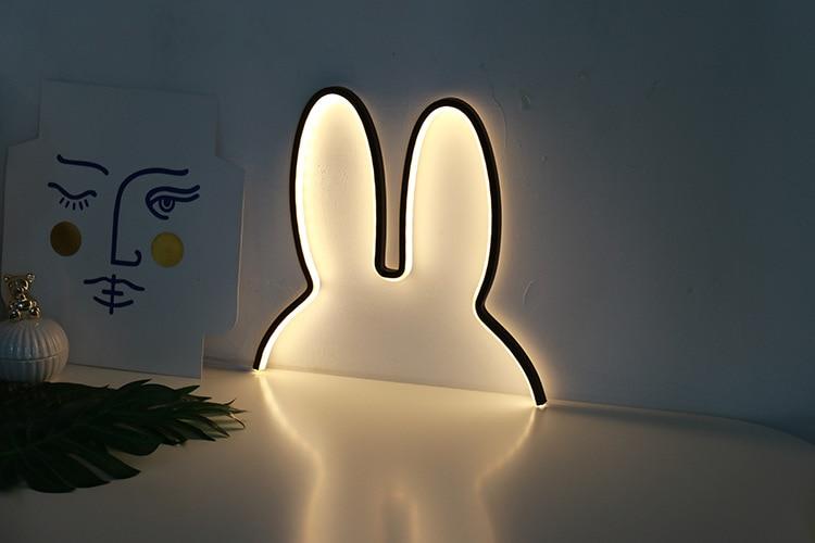 Northern European Children Kid Decorative Creative LED Lamp Rabbit  Night Light Plug-in USB Chrismas  Gift Room Carton Miffy