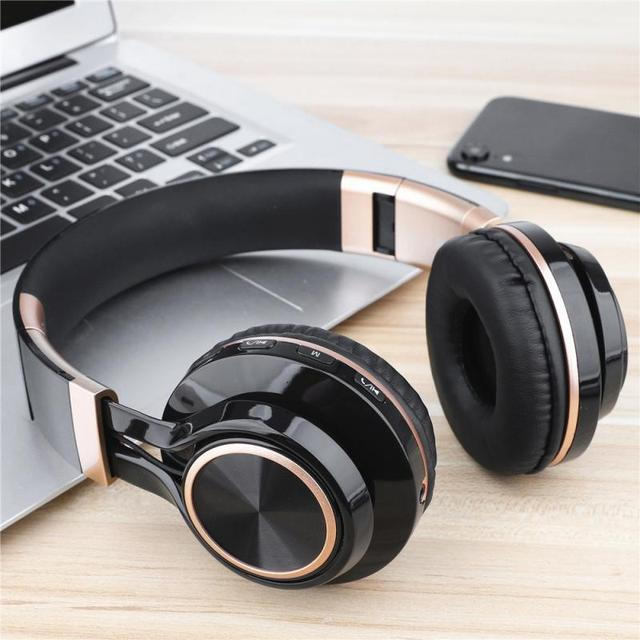 New Portable Wireless Headphones Bluetooth Stereo Foldable Headset Audio Mp3 Adjustable Earphones With Mic For Music 5