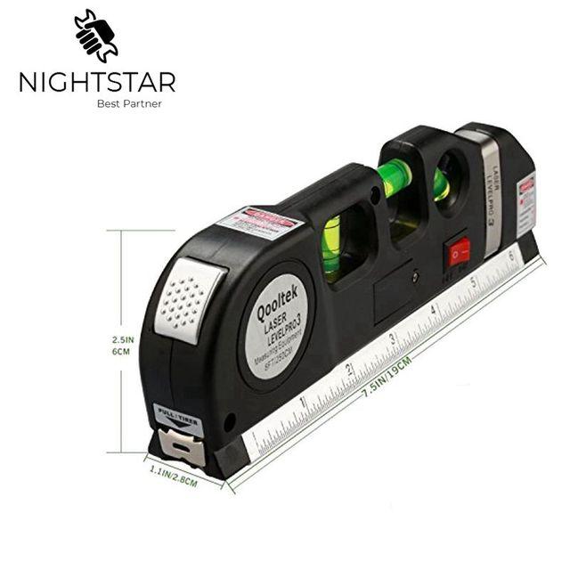 Laser Level Vertical Horizon Misura di 8FT Assetto Standard e Metriche Governanti Multiuso Misura di Livello Laser Nero 3