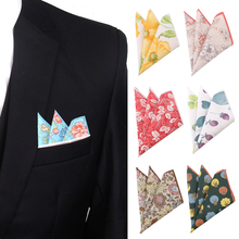Цветочные костюмы карман квадрат для мужчин женщин хлопок грудь полотенце платок джентльмены платки повседневные женские носовой платок карман полотенце