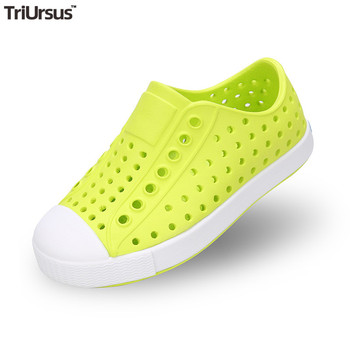 TRIURSUS Kids Natives Shoes Summer Boys Clog Flat Footwear Beach Waterproof Hollow Mules Clogs Candy Color Girls EVA Sandals сабо kids swiftwater clog