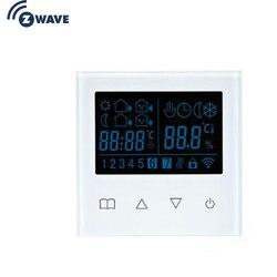 Haozee Z Wave Plus термостат еженедельное Программирование напольного отопления термостат с ЖК-сенсорным экраном