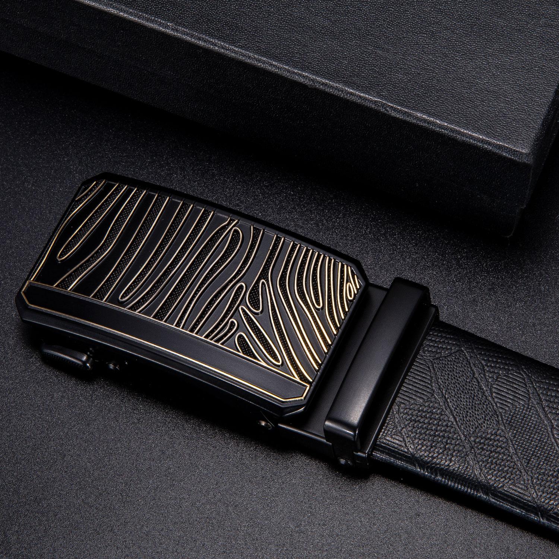 Dropship Brand Belt Buckles For Men Luxury Designer Unique Automatic Ratchet Buckles For Belt Fashion Black 3.5cm Width