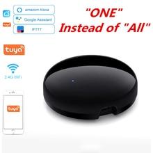 Tuya WiFi IR שלט רחוק עבור מזגן טלוויזיה חכם בית Blaster אינפרא אדום שלט אוניברסלי Alexa Google בית