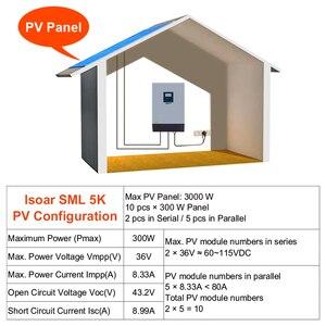 Image 5 - EASUN 전원 5KVA 태양 광 인버터 4000W 48V 230V 순수 사인파 하이브리드 인버터 내장 60A MPPT 태양 컨트롤러 배터리 충전기