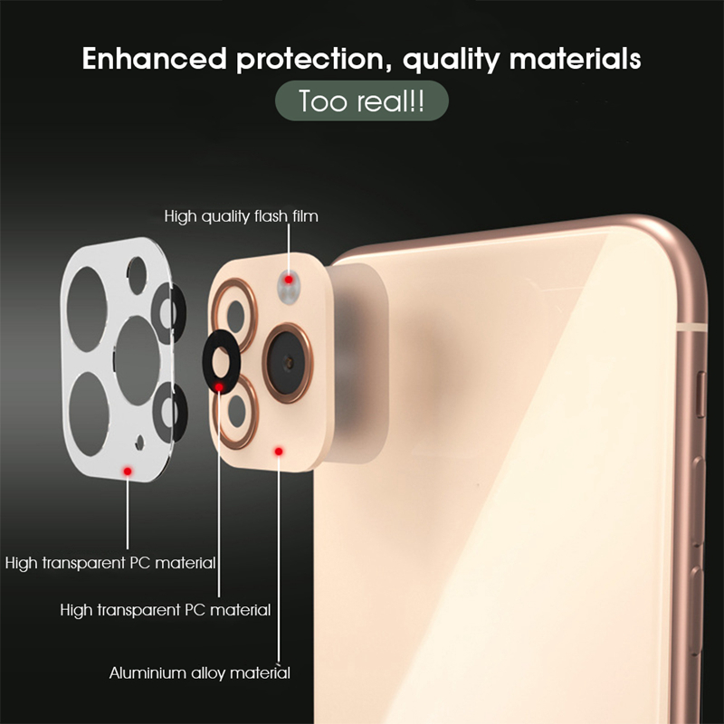 Lens Sticker Camera Lens Screen Protector Change to For iPhone 11 Models 1