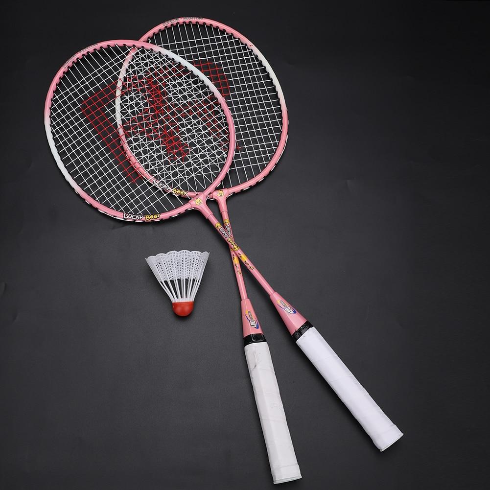 Professional Badminton Rackets Light Weight Ferroalloy Badminton Rackets For Kids Teenager Cartoon Badminton Racket FreeShipping